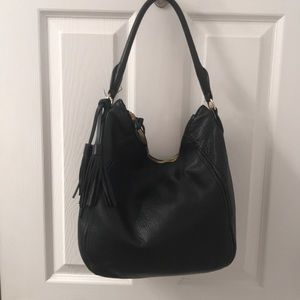 JCrew Women's hobo leather bag with tassels